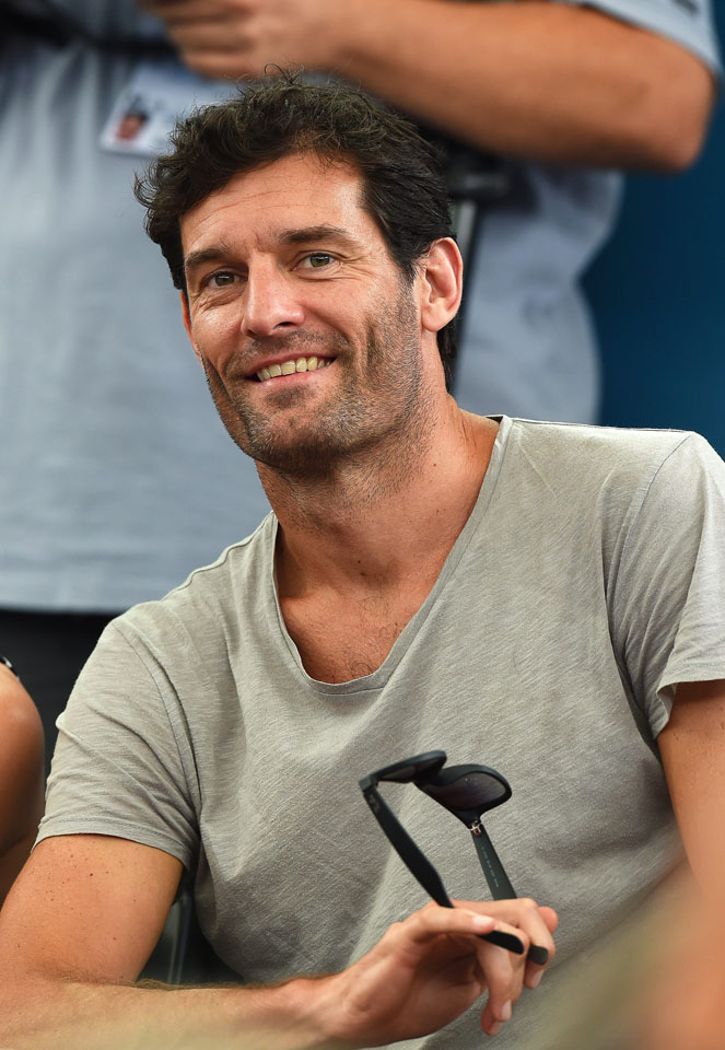 Mark Webber. Fot. PAP/EPA/DAVE HUNT