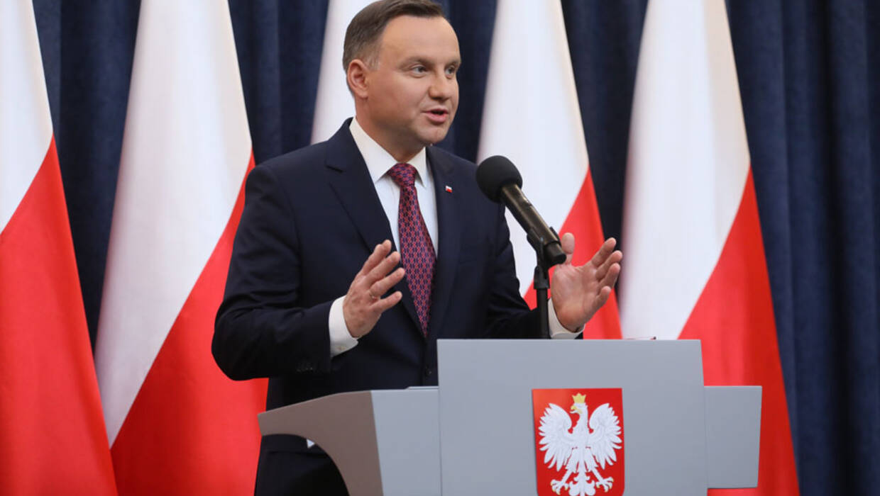 Warsaw, December 20, 2017. Polish President Andrzej Duda announces at the Presidential Palace his decision to sign into law the bills to reform the country's Supreme Court and the National Judicial Council.  PAP/Pawel Supernak