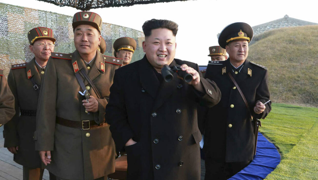 An undated file picture made available by North's Korean Central News Agency (KCNA) shows North Korean leader Kim Jong-un (C) guiding a joint drill of military units at an undisclosed location in North Korea. According to media reports on 07 July 2016, quoting a statement of the US Treasury, the North Korean leader has been put for the first time on the US sanction blacklist over his series of alleged human rights abuses, including other 10 top officials. EPA/KCNA SOUTH KOREA OUT  Archiwum PAP/EPA