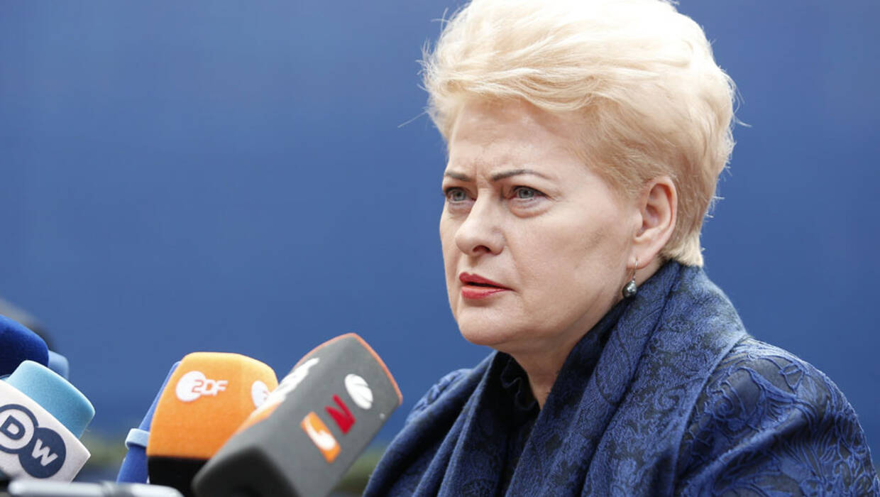 President of the Republic of Lithuania Dalia Grybauskaite arrives on the first day of the European Council Meeting in Brussels, 19 October 2017. Archiwum fot. PAP/EPA/JULIEN WARNAND