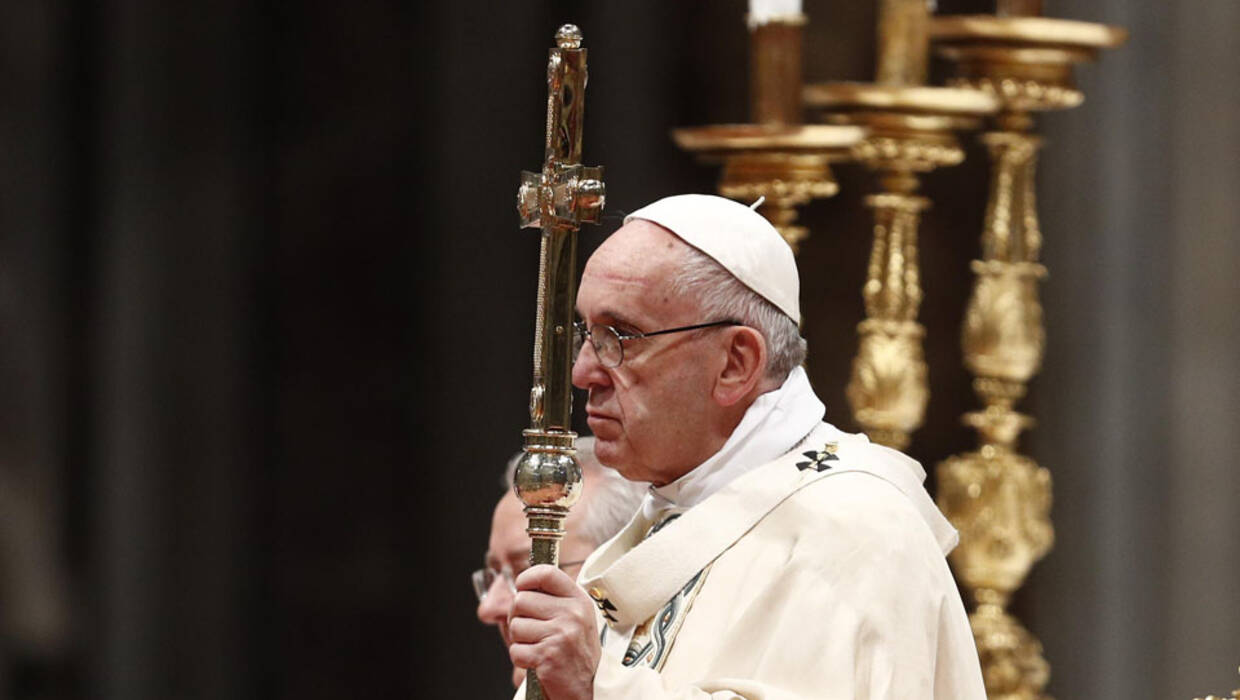 Pope Francis leads the Epiphany mass in the Saint Peters Basilica in the Vatican City, 06 January 2018.  Fot. PAP/EPA/GIUSEPPE LAMI