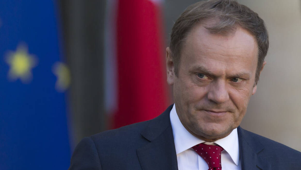 epa06285499 European Council President Donald Tusk listens to a speech at the European Parliament in Strasbourg, France, 24 October 2017 during the debate on a roadmap for the future of Europe.  Fot. PAP/EPA/PATRICK SEEGER