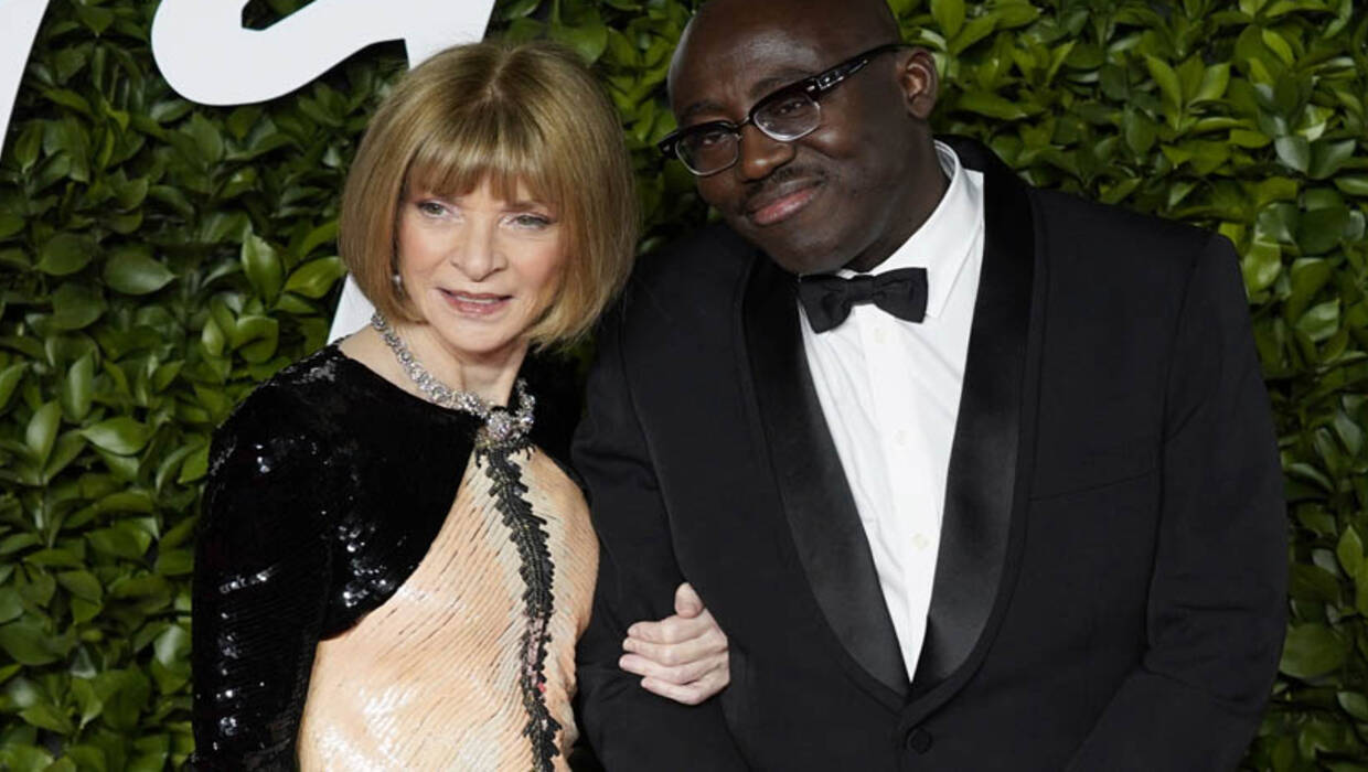 Anna Wintour i Edward Enninful Fot. PAP/EPA/WILL OLIVER